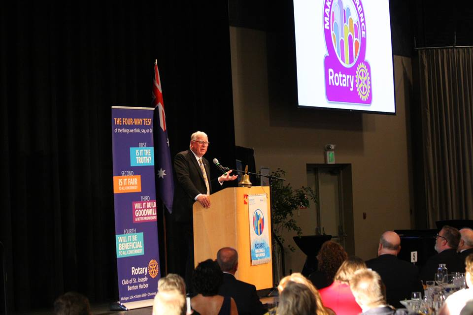 2017-2018 Rotary International President Ian Risely at Centennial Event