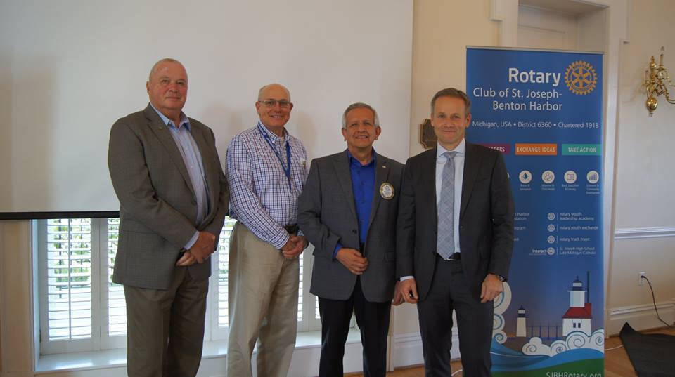 2017 New Whirlpool CEO Marc Bitzer speaks at joint Rotary Meeting