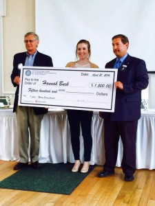 1st Place Winner Hannah Buck receives her scholarship